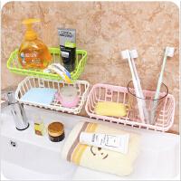 双吸盘厨房杂物置物架水槽洗碗海绵沥水架多功能收纳架