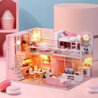 小天使礼物公主玩具房子拼装建筑学生小女孩生日礼物8-9-10岁手工娃娃屋过家家玩具