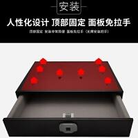 指纹抽屉式保险箱密码抽屉家用小型衣柜隐藏式办公智能迷你保险柜 指纹款