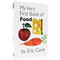 英文原版绘本 卡尔爷爷My Very First Book of Food 食物 幼儿启蒙图书2-5岁 上下翻页配对纸