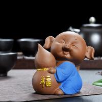 五福新款卡通套装 猪精品可养家居可爱生肖小猪茶宠公仔 招财装饰品