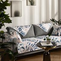 丝雨 全棉布艺沙发垫 防滑沙发盖巾套罩坐垫 四季通用 可定制 丝雨F