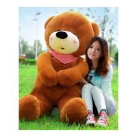 布朗熊公仔一米六 毛绒玩具熊公仔布娃娃大熊生日礼物女孩送女友可爱睡觉抱玩偶