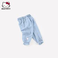 【3件3价券后预估价:62.1元】hellokitty女童牛仔裤2021春季新款儿童装长裤婴儿宝宝洋气灯笼裤