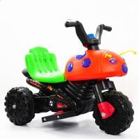贝伦多 甲壳虫1-3-7岁儿童电动摩托车三轮电瓶车带灯光带音乐多首歌曲 甲壳虫彩灯带音乐