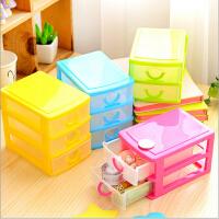 半透明抽屉式桌面收纳盒 塑料家居用品化妆品杂物收纳盒