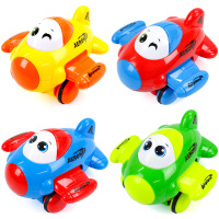 儿童玩具塑料造型可爱翅膀会扇动惯性摆摆小飞机抖音 惯性玩具【6660-1-飞机-颜色随机-OPP】