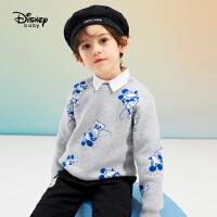 【今日4折�A估�r:84.8元】迪士尼童�b男童�A�I��衫�和�����毛衫2021春�b新款洋�饪ㄍ�毛衣