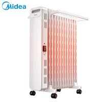 美的油汀取暖器HYX22N 油汀�暖器家用恒�厥‰� �暖�怆�暖�t13片暖�馄�