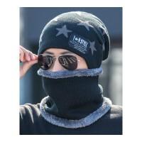 帽子男冬天加绒毛线帽加厚针织帽冬季帽男包头棉帽保暖潮青年韩版