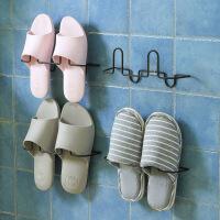 【好货】浴室拖鞋架卫生间简易门后墙壁挂式小鞋架家用经济型铁艺宿舍鞋架