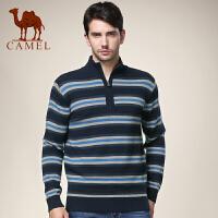 CAMEL 骆驼男装 新款商务休闲立领毛衣 男士长袖羊毛衫