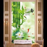 田园风景墙贴过道自粘装饰画贴纸壁纸走廊背景墙墙纸客厅_竹子静_小