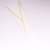 鲜花包装diy材料包花纸花店用品蝴蝶结材料玫瑰金三角单支袋 白色 50个/包