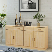 简易实木餐边柜松木橱柜带门客厅储物收纳柜子家用厨房置物柜碗柜