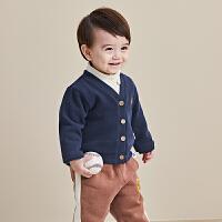 宝宝开衫冬季幼儿衣服针织男童冬装女童加绒上衣婴儿外套秋冬