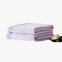 当当优品家纺浴巾 纯棉抗菌防臭毛巾吸水沙滩巾 60x120 浅紫