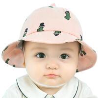 儿童帽子春夏季婴儿帽子3-6-12个月宝宝遮阳盆帽太阳帽渔夫帽