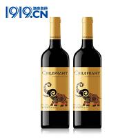 【1919酒类直供】智象金标赤霞珠干红葡萄酒2支装*750ml 智利原装进口