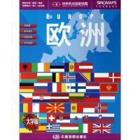世界热点国家地图 欧洲 大字版 中国地图出版社