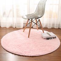 电脑椅地毯欧式圆形卧室垫吊篮藤椅垫地板垫梳妆台落地镜地垫可爱定制