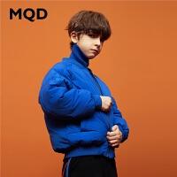 MQD童装男童羽绒服2019新款冬装中大童加厚保暖外套儿童面包服潮