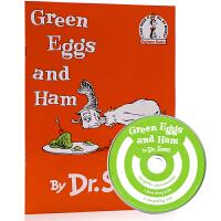 现货进口英文原版绘本Green Eggs And Ham with CD绿鸡蛋和火腿 平装带CD 苏斯博士Dr.Seus