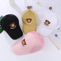女童遮阳帽宝宝鸭舌帽韩版小孩网帽儿童帽子男夏季棒球帽