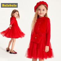 巴拉巴拉童�b女童�B衣裙春季2019新款小童����背心裙子�和�公主裙