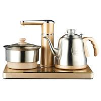 【新品】全自动上水茶壶电磁茶炉小型平板家用喝茶具电烧水壶 金色