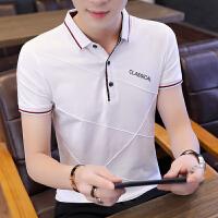 夏季POLO衫男士短袖T恤男纯棉韩版潮流青年衬衣短袖男上衣服