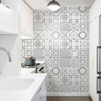 卫生间厨房防水地贴浴室阳台自粘墙贴耐磨瓷砖贴纸卧室地板贴纸 大