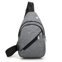 胸包男士单肩斜挎包男韩版潮学生帆布跨腰包休闲小背包包新款