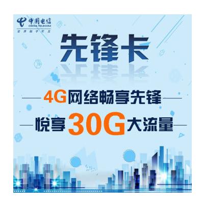 【北京电信】4G先锋上网卡共含30G(24G本地流量+6G国内流量,4G/3G网络通用无线路由器/wifi/mifi上网卡)