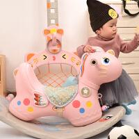 两用室内塑料玩具1-6岁宝宝礼物宝宝摇马儿童木马大号带音乐