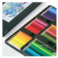 德国辉柏嘉绿铁盒艺术家水溶彩铅24/36/60/120色水溶性彩色铅笔