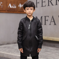 冬季中大童男童上衣外套MG3-13岁后背字母麂皮绒外套