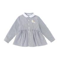春秋新款休闲时尚中长款衬衫中大童公主衫儿童装女童衬衣