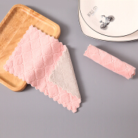 【品牌特惠】厨房抹布吸水不掉毛加厚家务清洁不沾油擦桌子毛巾家用洗碗布