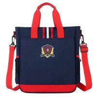 小学生手提袋补习袋帆布防水辅导班补课包英伦儿童书包潮