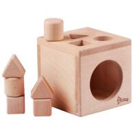 宝宝积木0-1岁可啃咬早教玩具1-3岁力婴幼儿形状配对认知玩具 宝宝形状盒