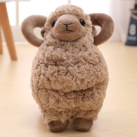 超萌可爱仿真小绵羊公仔小羊玩偶羊驼毛绒玩具睡觉抱的娃娃女孩