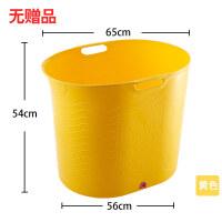 W 坐浴盆超大��和�洗澡桶塑料小孩������浴盆泡澡桶家用可坐�A形中大童D14