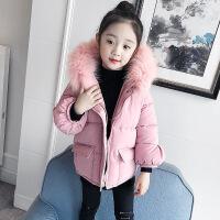 女童棉衣外套儿童手塞棉中款冬季加厚面包服中大童小女孩 粉红色棉衣 110建议身高95-105厘米