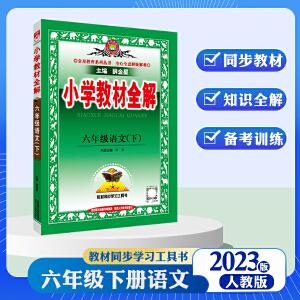 小学教材全解六年级下册语文 人教版 2021春