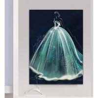 印花十字绣新款客厅线绣卧室简约现代小幅婚纱水晶嫁衣