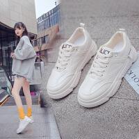 网红小白鞋女秋季新季百搭韩版学生帆布鞋平底基础板鞋子