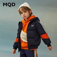 【1件2.5折券后价:164】MQD童装男童韩版连帽保暖羽绒服20新款冬装加厚羽绒洋气外套90绒