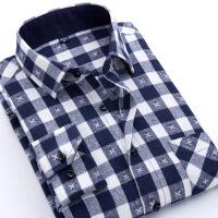秋款格子衬衫男士长袖衬衣 青少年韩版修身休闲潮流男装上衣
