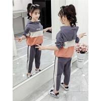 中大童女童韩版秋装套装2019春秋季新款洋气童装儿童运动套装